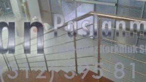 Yatay Emniyetli Paslanmaz Merdiven Korkuluğu (9)